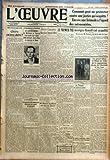 OEUVRE (L') [No 5030] du 09/07/1929 - POINTS DE VUE ET FACONS DE VOIR - CHERE OU PAS...