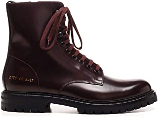 COMMON PROJECTS Mode De Luxe Homme 21713497 Bordeaux Cuir Bottines | Ss21