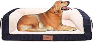EMME Pet Bed Sofa-Style Orthopedic Dog Beds Removable Cover Ultra Plush Deluxe Couch for Large Dogs