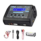 HTRC LiPo Charger RC Battery Balance Discharger 150W 10A 1-6S AC/DC C150 for NiCd Li-ion Life NiMH LiHV PB Smart Battery (Black)