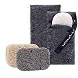 Soap Saver Pouch | Exfoliating Sponge Soap Pocket Body Exfoliator Sponges for Bath or Shower | Body Scrubber for Large Bar Soap or Leftover Soap Bits! 2 Pack + Bonus 2 Piece Soap Lift Soap Saver Pads