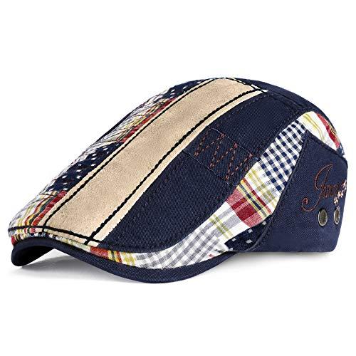 PORSYOND Gorra plana Gatsby Ivy Tweed para hombre, estilo vintage, ajustable, gorra de conducción de color irregular para hombre