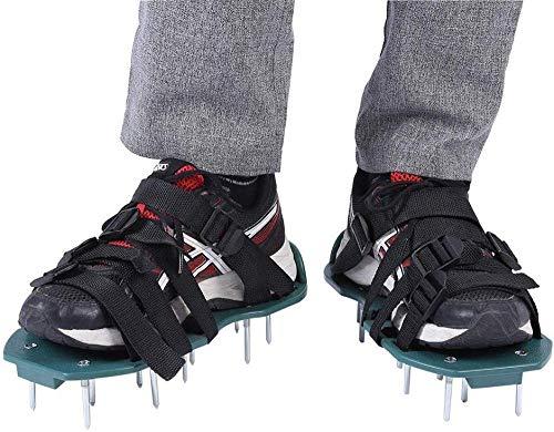 UMNALNI3 Zapatos de aireador de césped 3 y 4 Correas Sandalias de aireador de césped con Puntas para el césped del jardín afloje 4 Correas-4 Correas