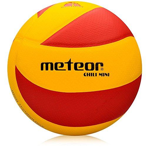 meteor Chilli Volleyball Mini Bälle fur Kids Größe 4 und 5 Volleybälle fur Damen - Micro PU Kunstleder aus Mikrofaser (#4, Chili Y&R)
