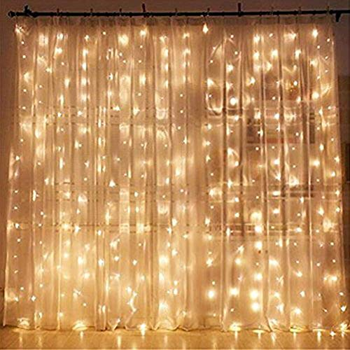 Twinkle Star 300 LED Window Curtain String Light ...
