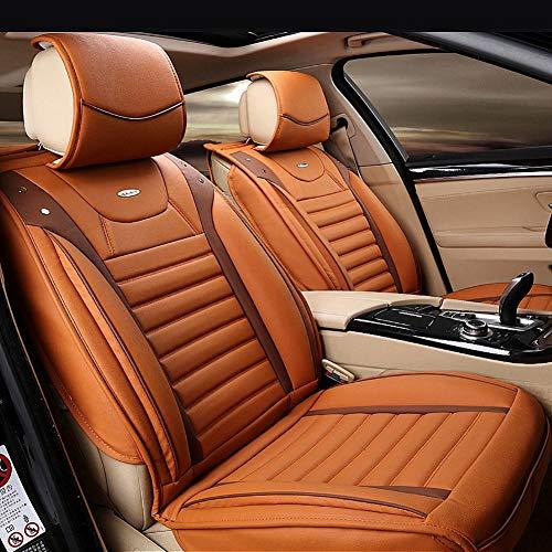 RUIX Auto liefert All Seasons Universal-Kissen All-Inclusive-Leder Autositzkissen, Autositzbezug,orange
