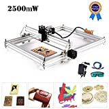TOPQSC Carving Machine DIY Kit, CNC Laser Engraver Desktop 12 V USB incisione laser Carver, 40X50CM Stampante laser regolabile Carving & Cutting Carta in plastica leggera, 2 assi (2500MW)
