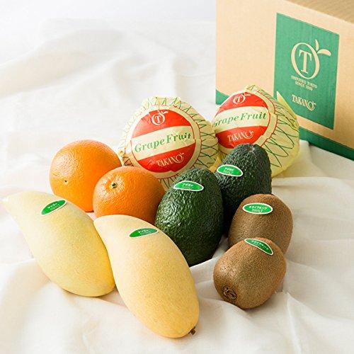 新宿高野 Day Fruit デイフルーツ デイフルーツセットA #29100 [グレープフルーツ/オレンジ/キウイフルーツ/タイマンゴー/アボカド 各2個入り] フルーツ詰合せギフト お歳暮