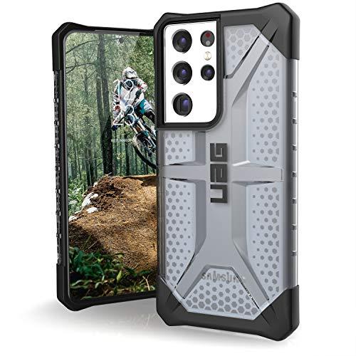 "Urban Armor Gear Plasma Schutzhülle Samsung Galaxy S21 Ultra 5G (6,8\"" Zoll) Hülle (Wireless Charging kompatibles Cover, Sturzfeste Handyhülle, Ultra Slim Bumper) - ash (grau transparent)"