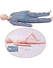 EMGAO Enfermería de múltiples Funciones del maniquí, Paciente PVC maniquí simulador de Enseñanza Humana de enfermería Suministros formación médica y educación,Male