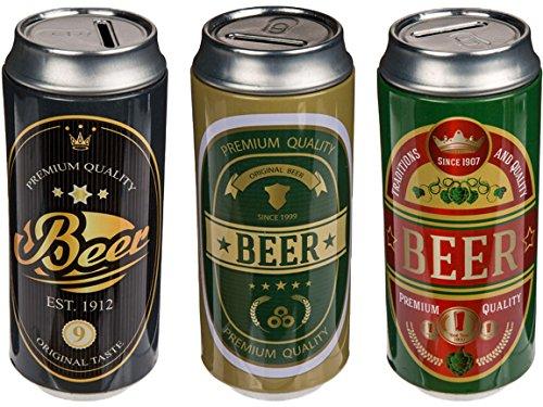 Bada Bing 3er Set Spardose Bierdose Bier Beer Geschenk Originell