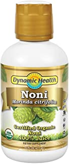 Dynamic Health Organic Noni (Morinda citrifolia) 100% Juice | For Increased Energy & Body Health | No Additives, Vegetaria...