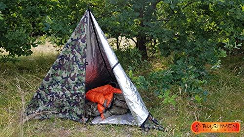 Bushmen Thermo Tarp 3 x 2 Meter Camouflage, Regendach, Isomatte