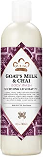 Nubian Heritage Body Wash Cleanser for All Skin Types Goats Milk and Chai Made with Fair Trade Shea Butter 13 oz
