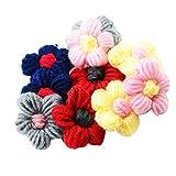 Magideal 10piezas flores de lana. Bricolaje Conclusiones Para Ropa Bolso Clip de pelo decoración 45mm