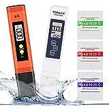 Misuratore Ph, Winzwon PH Tester Qualità Acqua 4 in 1 PH/TDS&EC Temperatura Tester con Compensazione Automatica e della Temperatura e Schermo LCD, per Piscina, Acquario