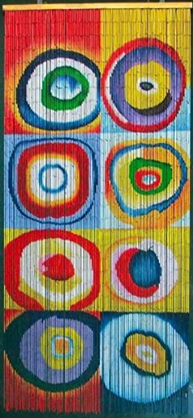 Squares Rings Kandinsky Beaded Curtain 125 Strands Hanging Hardware