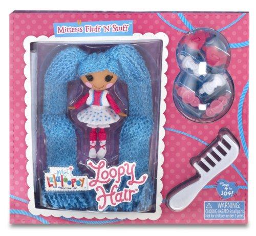 Lalaloopsy - Mini Loopy Hair Doll: Mittens Fluff N Stuff, muñeca (Bandai 522164)