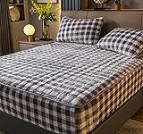 XLMHZP Sábanas-suave sedoso, invierno cálido franela hoja de cama, textiles para el hogar ropa de cama de lujo, super suave tamaño king hoja de cama - E 200 x 220 cm+30 cm