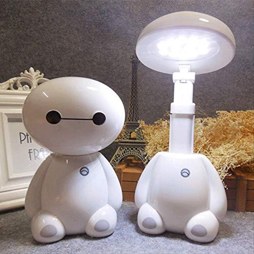 Grote witte ladertafellamp energiebesparende LED-oogbeschermingslamp leren klein nachtlampje uitschuifbare kinder-klaptafellamp