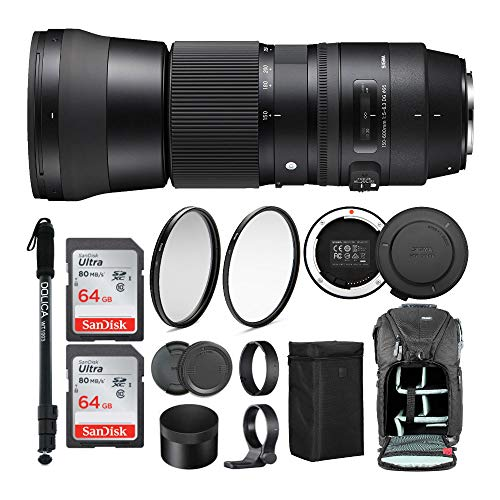 Altura Photo Venture Bag Tamron SP 150-600mm F//5-6.3 Di VC USD G2 Lens for Nikon DSLR Cameras with Complete Photo and Travel Bundle Includes Tamron Tap-in Console SanDisk 64gb and 32gb SD Cards