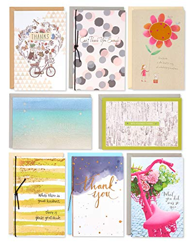 American Greetings Premium Thank You Cards (8-Count), Model: 6007084