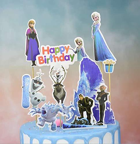 Guizu Principessa Aisha Cupcake Topper, Muffin Deco, Cake Toppers per Bambini Baby Party Birthday Party Cake Decor Supplie(30 Pezzi) (BXQY)