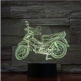 Lámpara De Motocicleta 3D Luz Nocturna Usb/Con Batería Lámpara De Luz Nocturna Led Efecto De Luz Visual Regalo Para Amantes De Bicicletas De Motor Luces De Humor
