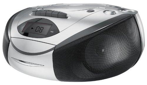Grundig RRCD 3720 DEC tragbarer Radiorekorder Radio CD USB silber-schwarz