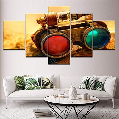 Gwgdjk Wall Art Hd Imprime Fotos 5 Unidades Telescopio Instrumento Cartel Modular Pintura De La Lona Decoración Moderna Sala De Estar-40X60/80/100Cm,Without Frame