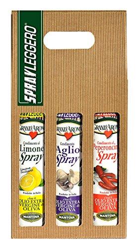 Confezione 3 x 250 ml spray: condimento al limone, al peperoncino e all'aglio