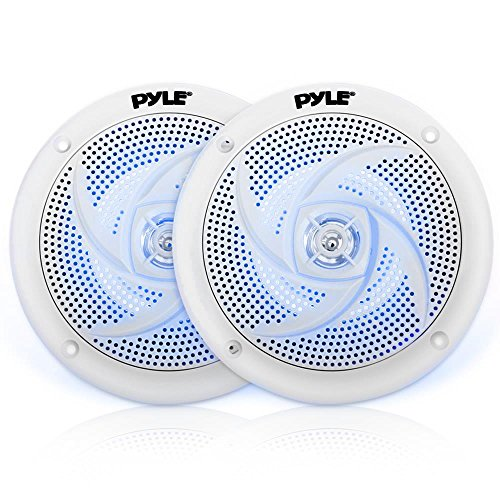 Pyle Marine Speakers - 6.5 Inch 2 Way Waterproof and Weather Resistant Outdoor Audio Stereo Sound...