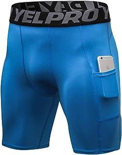 Jessie Kidden Men's Quick Dry Sports Performance Compression Shorts #1034