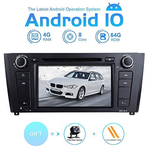 ZLTOOPAI Autoradio Stereo per BMW E81 E82 E87 E88 1 Serie Android 10 Octa Core 4G RAM 64G ROM 7 pollici IPS Double Din In Dash Navigazione GPS per auto Lettore DVD