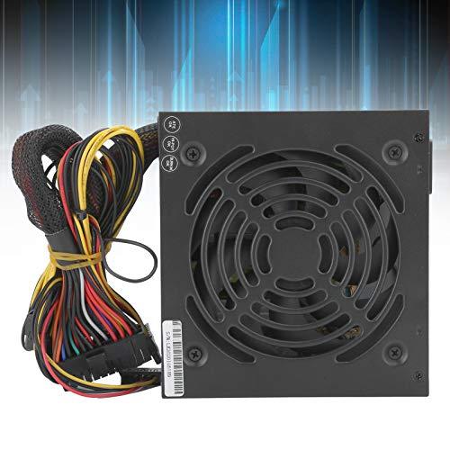 Lazmin112 Computadora de Escritorio Power PC Fuente de alimentación 350W Computadora de Escritorio Accesorios de bajo Consumo de energía Ajustable 115 / 230V(Pink)