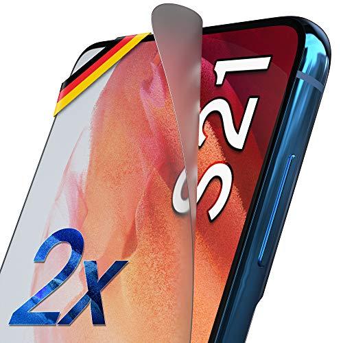 UTECTION 2X Matte Schutzfolie für Samsung Galaxy S21 5G - Fingerabdruck kompatibel - Premium Folie KEIN Glas - Hüllenfre&lich - Anti Kratzer Bildschirmschutzfolie Ultra Clear - Schutz Bildschirmfolie