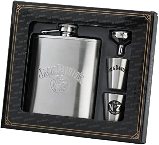 Jack Daniels Licensed Barware 8472 Gift Set, 6 oz./1 oz, Silver