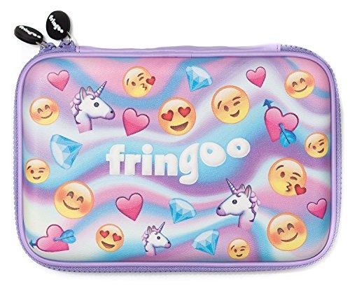 Fringoo® Federmappe, Mädchen /Jungen, Hartschale, niedliches geprägtes Emoji-Design, ordentliche Aufbewahrung von Stiften.