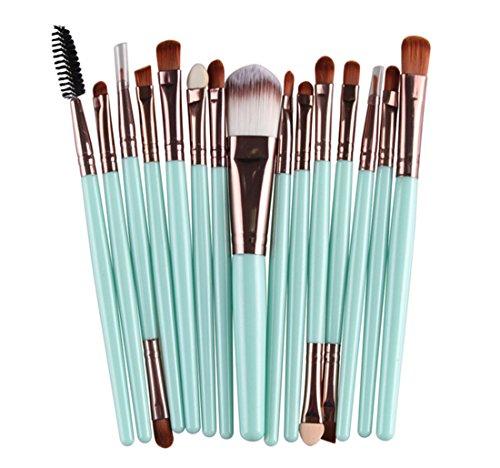 VWH 15 pcs Pinceau de Maquillage Cosmetique Ombre Paupiere Fondation Poudre Blush