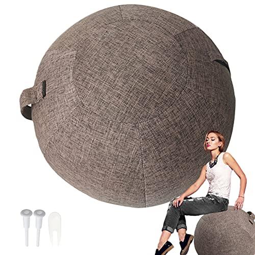 Rbanbow Funda Pelota Yoga Silla Pelota Pilates Pelota Resistente a la Suciedad para Oficina Ergonomicas Anti-explosión para La Oficina y El Hogar, Fitness Trabajo de Parto y Embarazo