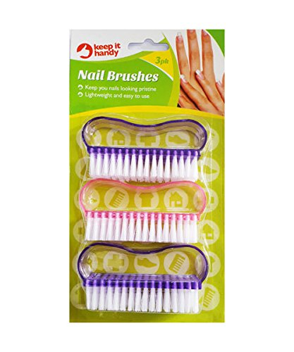 3 x Nail Hand Scrubbing Cleaning Brushes