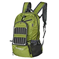 ECEEN Foldable Backpack + Solar Phone Charger for Smart Phones Camping Outdoor Travel Biking Air Travelling Carry on Backpacking Ultralight and Handy - 15 Oz Only