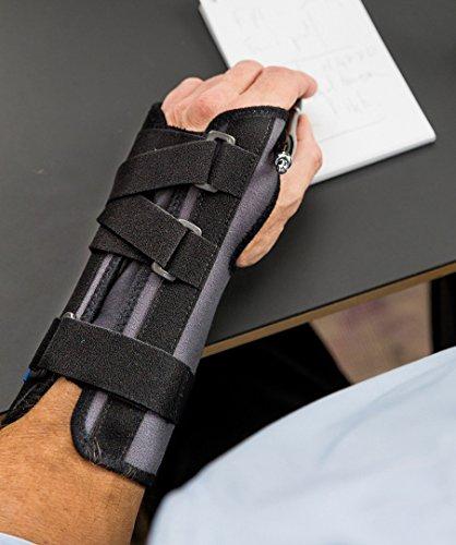 Inmovilizador de Muñeca Ligaflex Manu para mano izquierda color negro talla 1 (13 - 15 cm)