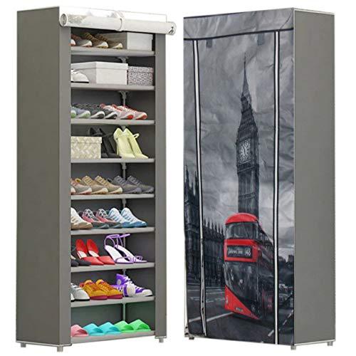 CHIC FANTASY Zapatera Multifuncional de 9 Niveles para almacenar 27 pares de zapatos o ropa, cómoda, fácil de armar, resistente, Chic Fantasy, BIG BEN LONDON UK