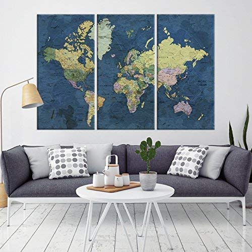 Map Home Decor USA Map Canvas Wall Art Print