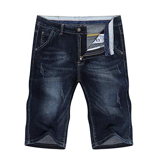 ShFhhwrl Vaqueros de Moda clásica Pantalones Cortos De Verano Pantalones Vaqueros para Hombre Pantalones De Mezclilla Elásticos A