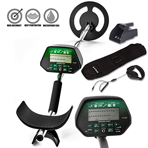 Treasure Cove TC-3020 Fortune Finder Digital Platinum Gold Silver Metal Detector Set for Adults with High Accuracy Waterproof Coil