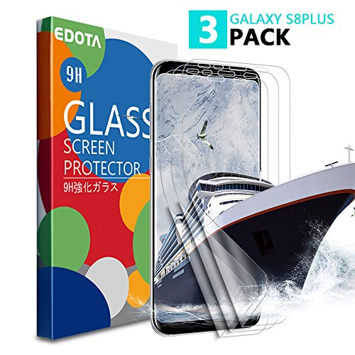 [3 PACK] Samsung Galaxy S8 Plus Protector de Pantalla, Edota [Case Friendly] Ultra Clear [Not Glass,TPU Film] Full Covered Front Protector de pantalla Samsung Galaxy S8 Plus