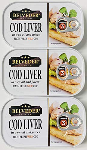 Wild Cod Liver Canned 120g can From Iceland pack of 3