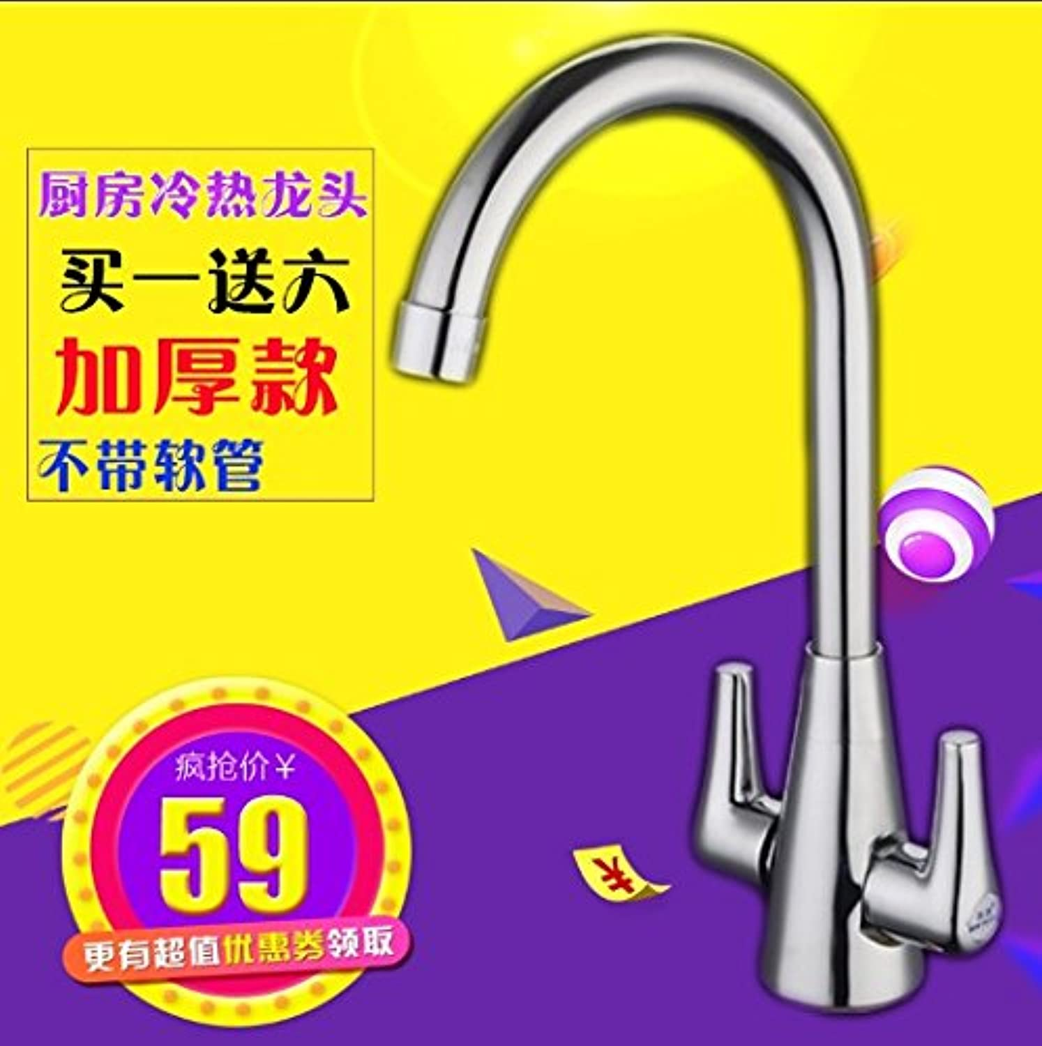 Gyps Faucet Single Lever Basin Mixer Tap Bathroom Tap Double Room - Open Kitchen Tap Hot and Cold Full Copper Single Hole Sink Mixer The